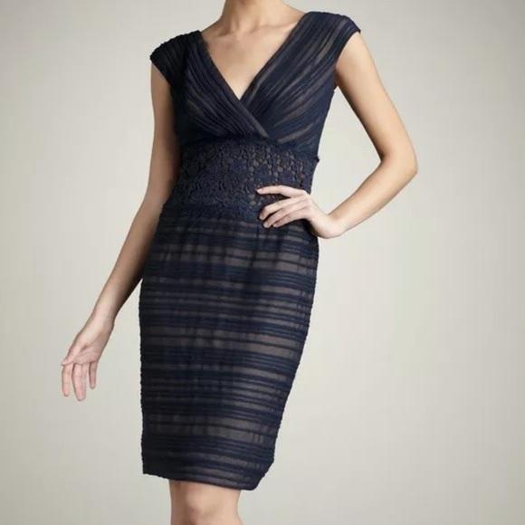 9385cf9d Tadashi Shoji Dresses   Nwt Navynude Crochet Layered Dress   Poshmark